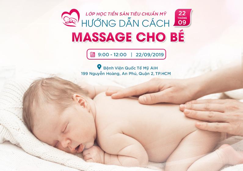 Hướng dẫn cách massage cho bé
